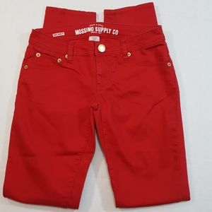 Mossimo Skinny Jeans Size 3 Red